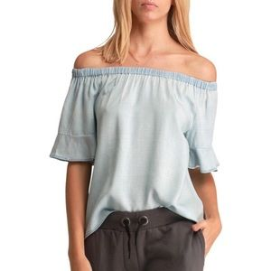 Walter Baker Bell Sleve Penny Off The Shoulder Top